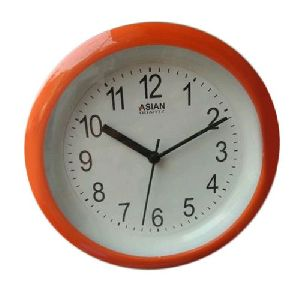 Orange Round Wall Clock
