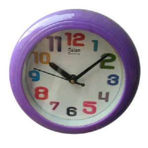 Purple Round Wall Clock