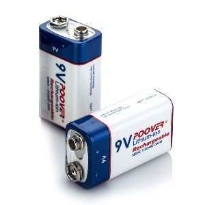 9 Volt Lithium-Ion Rechargeable Battery
