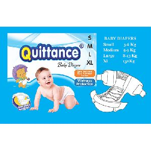 Quittance Disposable Baby Diapers X-large
