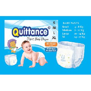 Quittance Disposable Pull Up Baby Diapers Medium
