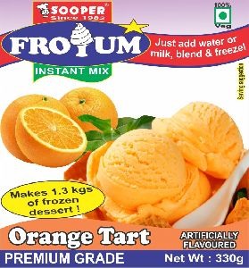 Instant Orange Frozen Yogurt Mix