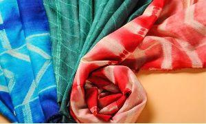 Shibori Tussar Silk Yardages
