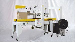 Carton Sealing and Strapping Combo System