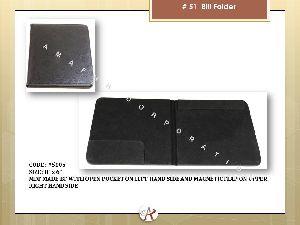 Leatherette Bill Folder