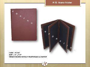 Leatherette Menu Folder