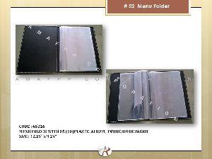 Plastic Album Menu Folder