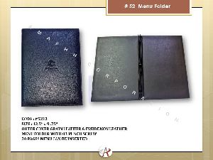 PU Menu Folder