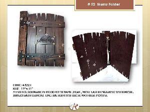 Wood Polish Menu Folder