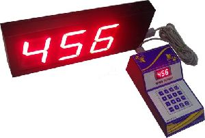 3 Digit Token Calling Display System
