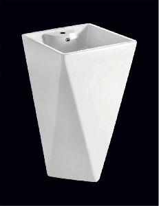 400x400x790mm Ceramic One Piece Basin