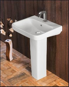 575x430x120mm Ceramic Basin with Pedestal