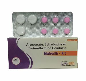 Artesunate, Sulphadoxine & Pyrimethamine Combikit