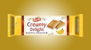 Mini Banana Cream Biscuits