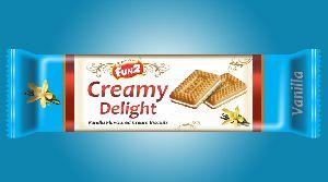 Mini Vanilla Cream Biscuits