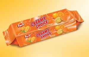 Orange Creamy Choice Biscuits
