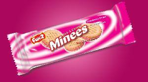 Strawberry Cream Minees Sandwich Cookies