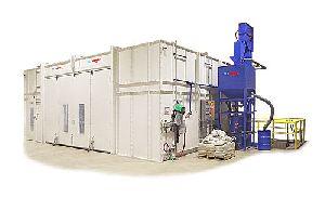 Single Cross Mechanical Screw Conveyor Type Blast Room System