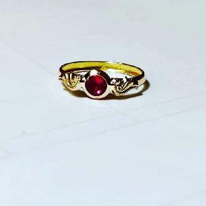 Single Stone Tube Ring