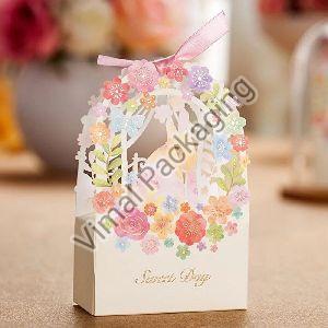 Flower Print Paper Box