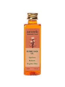 Auravedic Kumkumadi Oil Pure Saffron For Ultra Skin Brightening and Radiance, 100ml