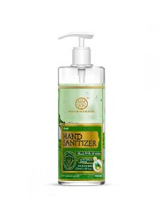 Khadi Natural Aloe Vera & Lemon Hand Sanitizer (70% alcohol gel formulation), 500ml
