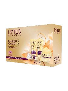 Lotus Herbals Radiant Gold Cellular Glow Facial Kit, 170g