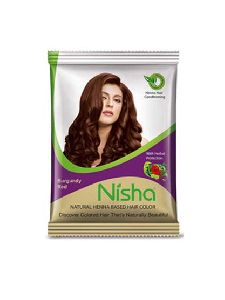 Nisha Burgundy Red Hair Color 15g (Pack of 6) with brush