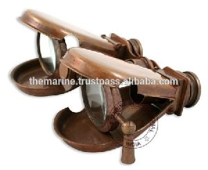 Antique Brass Folding Binocular