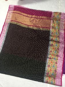 Kora Check Silk Saree