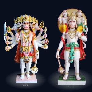 Marble Panch Mukhi Hanuman Statue