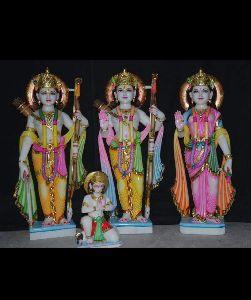 Marble Sitaram Hanuman Statue