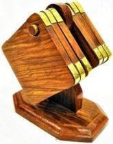 Wooden Coaster with brass work.