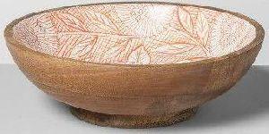 Wooden Meenakari Bowl