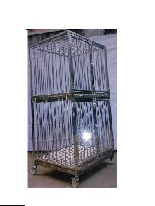 Stainless Steel Double Animal Cage