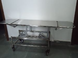 Stainless Steel Height Adjustable Stretcher Trolley