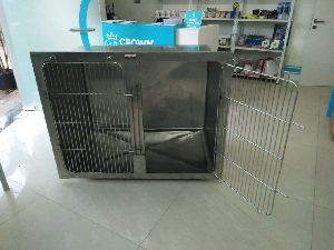 Stainless Steel Single Animal Cage