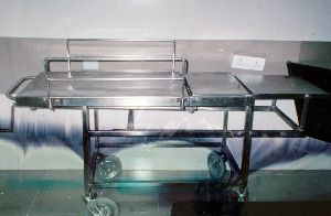 Stainless Steel Step Stretcher Trolley