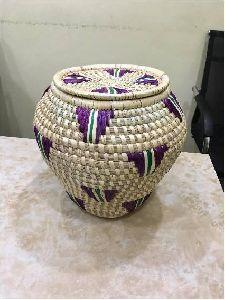 Handwoven Moonj Pot