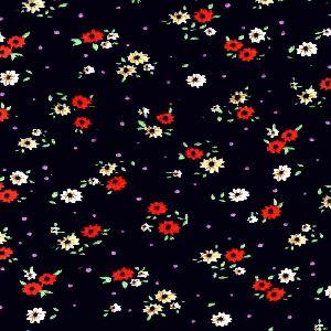 Floral printed velvet