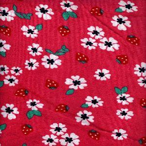 "Floral printed velvet 58"" Width"