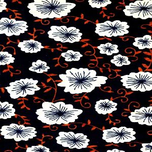 Floral printed velvet fabric
