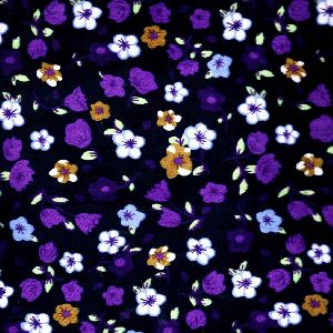Floral Printed velvet fabric 58""