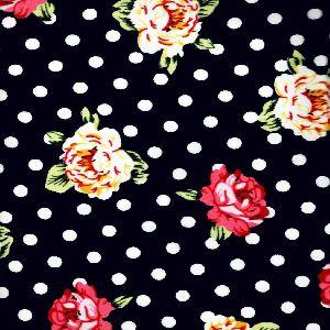 """Flower printed velvet fabric  58"""""""