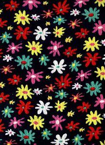 "Velvet printed fabric, 58"" width"