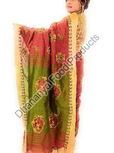 Embroidered Handloom Silk Saree