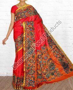Printed Handloom Silk Saree