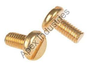 Brass Pan Slotted Screws