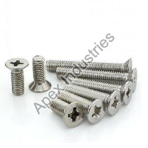Mild Steel CSK Phillips Head Machine Screws