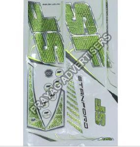 Chrome Color Cricket Bat Sticker